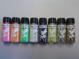 Fairy dust - 8 pack -  10 gram jars green gold silver purple blue orange yellow white Christmas present gift